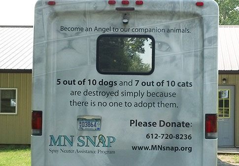 MNSNAP Clinic vehicle
